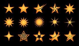 Insieme dell'icona di logo della stella Immagine Stock