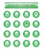 Insieme dell'icona di logo di ecologia Fotografia Stock