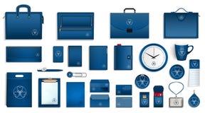 Insieme dell'icona di marca, stile realistico illustrazione vettoriale