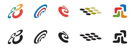 Insieme dell'icona di marchio Immagine Stock Libera da Diritti