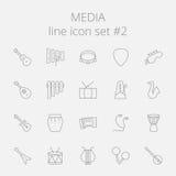 Insieme dell'icona di media illustrazione vettoriale