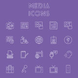Insieme dell'icona di media Fotografia Stock