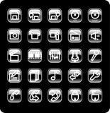 Insieme dell'icona di media e di Web Fotografie Stock Libere da Diritti