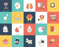 Insieme dell'icona di medico e della sanità illustrazione vettoriale