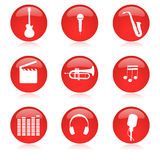 Insieme dell'icona di musica illustrazione vettoriale