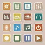 Insieme dell'icona di musica. Immagine Stock Libera da Diritti