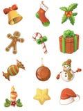 Insieme dell'icona di Natale Immagine Stock