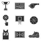 Insieme dell'icona di pallacanestro illustrazione vettoriale