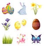 Insieme dell'icona di Pasqua Immagine Stock Libera da Diritti