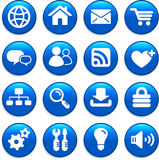 Insieme dell'icona di progettazione di Internet Immagini Stock Libere da Diritti