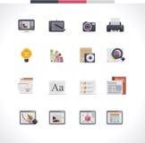 Insieme dell'icona di progettazione grafica Fotografia Stock
