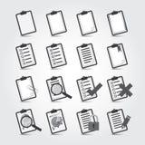 Insieme dell'icona di rapporti Immagine Stock