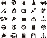 Insieme dell'icona di riparazione dell'automobile e del garage Fotografia Stock Libera da Diritti