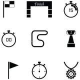 Insieme dell'icona di rivestimento illustrazione di stock