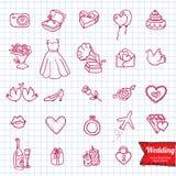 Insieme dell'icona di scarabocchio del disegno della mano, Royalty Illustrazione gratis