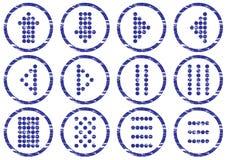 Insieme dell'icona di simboli della tabella. Fotografie Stock