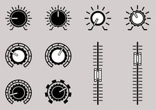 Insieme dell'icona di simbolo di controllo del volume Illustrazione di vettore royalty illustrazione gratis