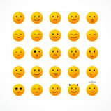 Insieme dell'icona di sorriso di vettore illustrazione di stock