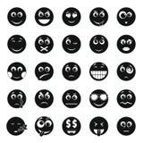 Insieme dell'icona di sorriso, stile semplice fotografia stock libera da diritti