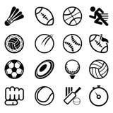 Insieme dell'icona di sport Fotografie Stock