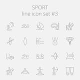Insieme dell'icona di sport Fotografia Stock