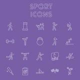 Insieme dell'icona di sport Immagini Stock