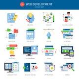 Insieme dell'icona di sviluppo Web illustrazione vettoriale