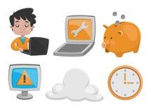Insieme dell'icona di tecnologia Immagini Stock Libere da Diritti