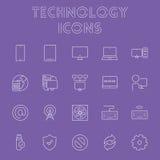 Insieme dell'icona di tecnologia Fotografia Stock Libera da Diritti