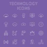Insieme dell'icona di tecnologia Fotografia Stock