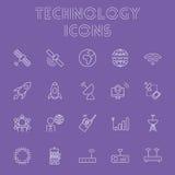 Insieme dell'icona di tecnologia Fotografie Stock