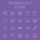 Insieme dell'icona di tecnologia Fotografie Stock Libere da Diritti