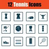 Insieme dell'icona di tennis illustrazione vettoriale