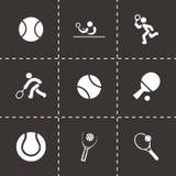 Insieme dell'icona di tennis di vettore Immagine Stock Libera da Diritti
