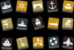 Insieme dell'icona di trasporto Fotografie Stock Libere da Diritti