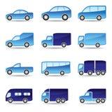 Insieme dell'icona di trasporto su strada Fotografia Stock Libera da Diritti