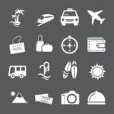 Insieme dell'icona di vacanza e di viaggio, vettore eps10 Fotografia Stock