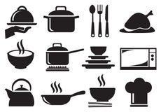 Insieme dell'icona di vettore dell'utensile della cucina Immagine Stock