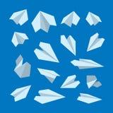 Insieme dell'icona di vettore della raccolta piana di origami Immagine Stock Libera da Diritti