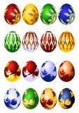 Insieme dell'icona di vettore delle uova di Pasqua Fotografia Stock