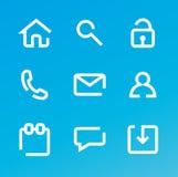 Insieme dell'icona di Web Immagine Stock