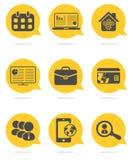 Insieme dell'icona di Web di affari Immagini Stock