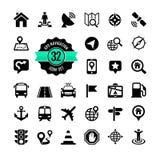 Insieme dell'icona di web. Posizione Fotografia Stock