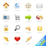Insieme dell'icona di Web site Immagine Stock