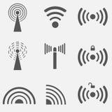 Insieme dell'icona di WiFi Immagini Stock