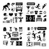 Insieme dell'icona isolato sport royalty illustrazione gratis