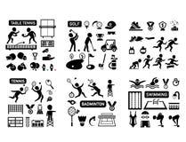 Insieme dell'icona isolato sport illustrazione vettoriale