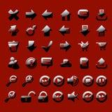 Insieme dell'icona lucida Immagine Stock