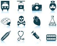Insieme dell'icona medica Fotografia Stock