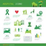 Insieme dell'icona dell'ospedale e di medico fotografia stock